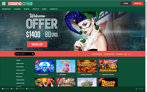Casino-Mate Review New Zealand