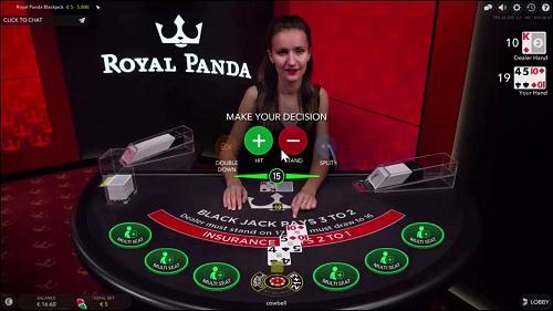 Live Dealer Blackjack - Royal Panda NZ