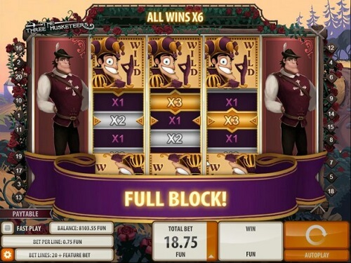 Three Musketeers Pokie Review