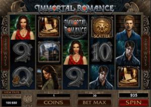 immortal romance valentine slot reels