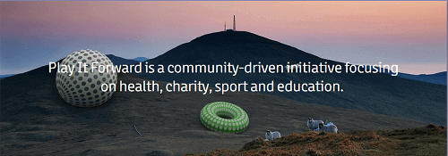 PlayItForward webpage screenshot