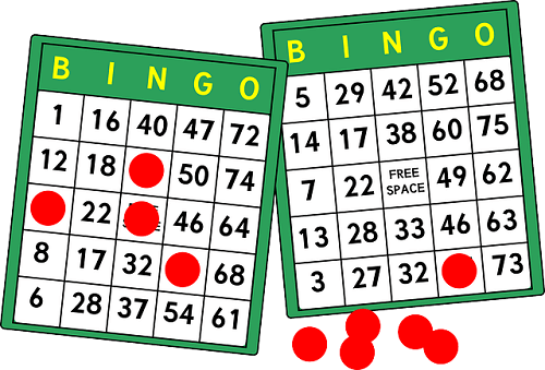 bingo cards with markers