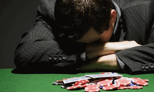 self-exclusion gambling addict on casino table