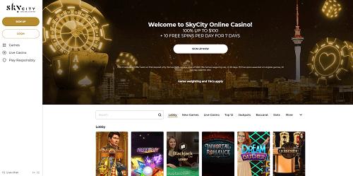 SkyCity online gambling site