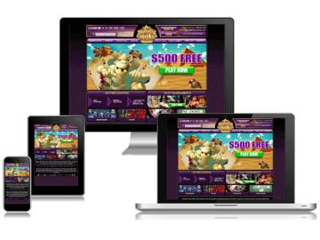 Mummy's Gold Casino Homepage