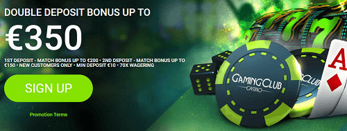 Welcome Bonus & Promotions at Gaming Club