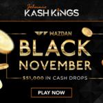 November Tournaments: King Johnnie & Wild Card City