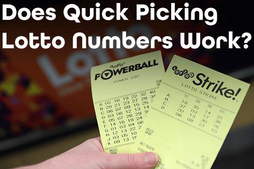 Apakah Nomor Lotere Pengambilan Cepat Berfungsi?